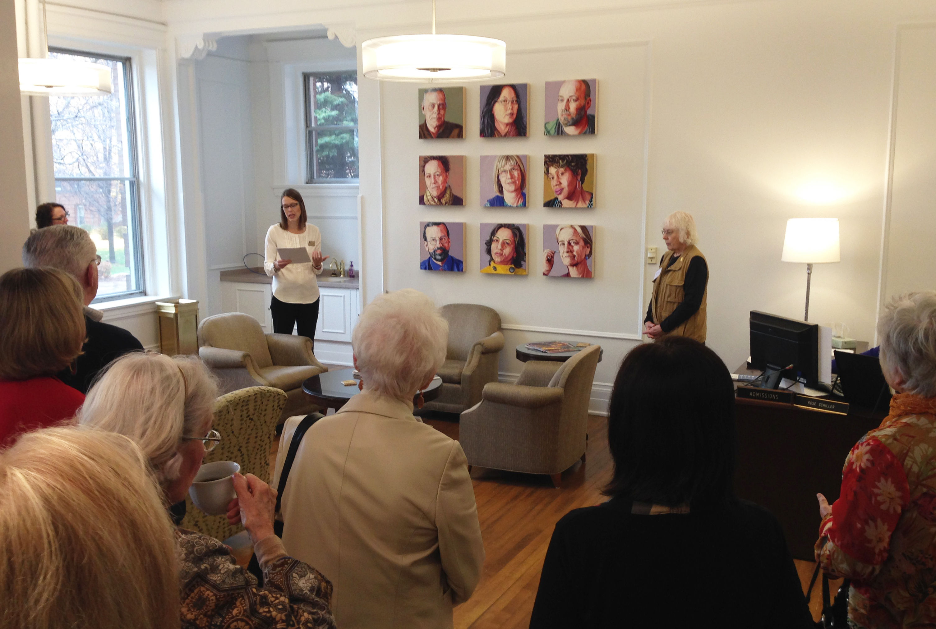 Derham Hall Art Tour & Reception with President Roloff 2016
