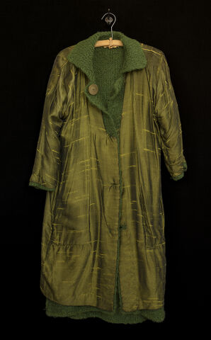 Anna's handmade green coat